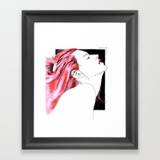 hair in rose Framed Art Print