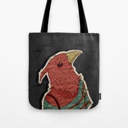 Hipster bird  mixed media digital art collage Tote Bag