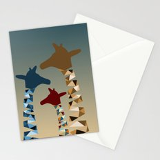 Abstract Colored Giraffe Family Stationery Cards