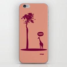 WTF? Jirafa bis! iPhone & iPod Skin
