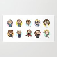 1d Art Prints featuring Emoji 1D by Cyrilliart