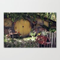 hobbit Canvas Prints featuring The Hobbit by Cynthia del Rio