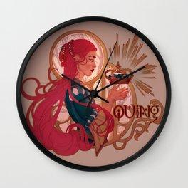 Enby royalty - Quing Wall Clock