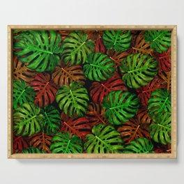 Monstera Leaf Pattern Serving Tray