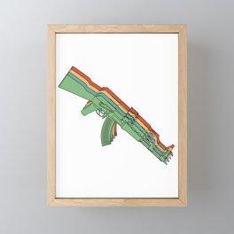 Vintage Retro AK-47 Rifle 2nd Amendment Gun Gift Gun Rights Framed Mini Art Print