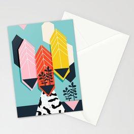 Legit - throwback 80s style memphis neon texture art print pop art dorm college hipster trendy urban Stationery Cards