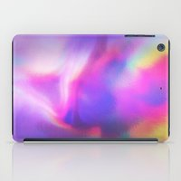 hologram iPad Cases featuring An abstract colorful holographic futuristic texture. by Bastetamon