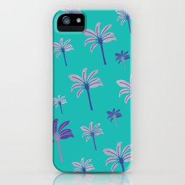 Colorful beach palm trees iPhone Case