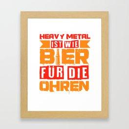 Heavy Metal Beer Festival Concert Funny Gift Framed Art Print