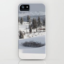 Yellowstone National Park - Blacktail Deer Plateau Panorama iPhone Case