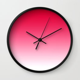 Red Light Ombre Wall Clock
