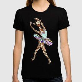 Giraffe Ballerina Tutu T-shirt