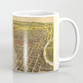 Map Of Fort Worth 1891 Coffee Mug