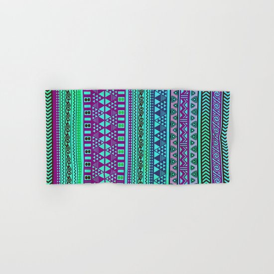 Inspired Aztec Pattern 4 Hand & Bath Towel