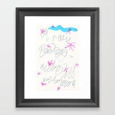wishful thinking. spell 3. Framed Art Print