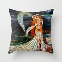 venus Throw Pillows featuring Venus  by ShekariArt