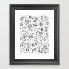 Ice Gear Framed Art Print