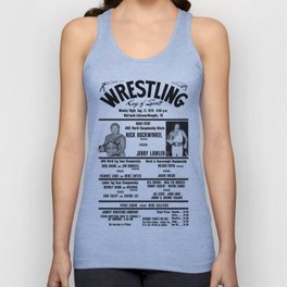 #3 Memphis Wrestling Window Card Unisex Tank Top