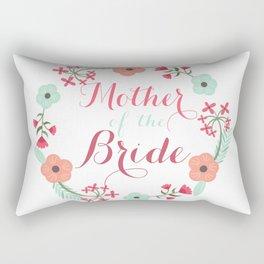 Floral Wreath Mother of he Bride Rectangular Pillow