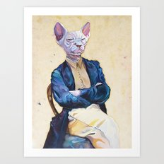 Gentleman Sphynx Art Print