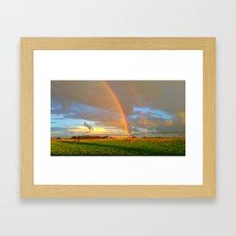 Rainbows in the Prairie Framed Art Print