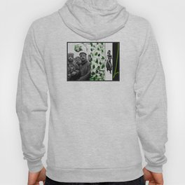 Thoughts of green before returning to the black and white front Hoody