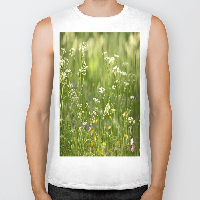 Green Summer Meadow #decor #society6 Biker Tank