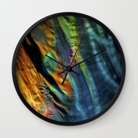 hippy Wall Clocks featuring Hippy Flag by Mingo