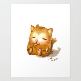 Fat Cat Art Print