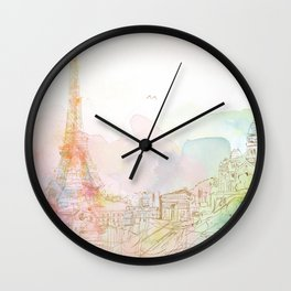 Dream Paris Wall Clock