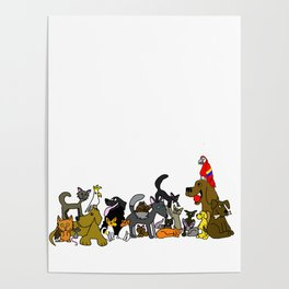 Cats And Dogs And Birds And Mice Poster