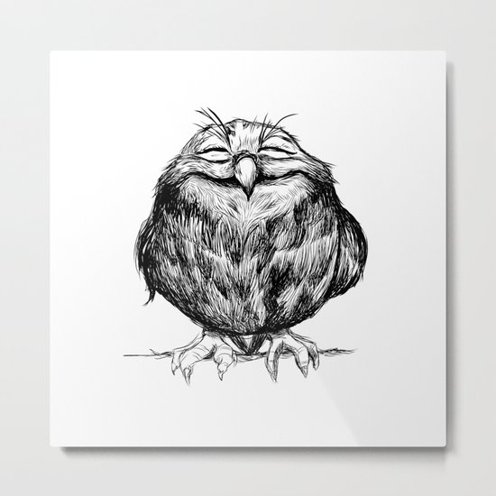 Owl Ball Metal Print