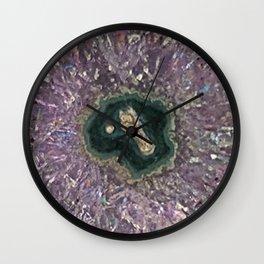 Amethyst Rose Wall Clock