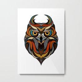 Oldschool Owl Metal Print