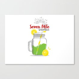 Seven Mile: Summer, sun, sea & smoothies Canvas Print