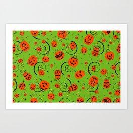 Halloween Magic- Green Art Print