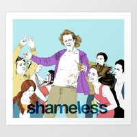 shameless Art Prints featuring shameless by illustratemyphoto