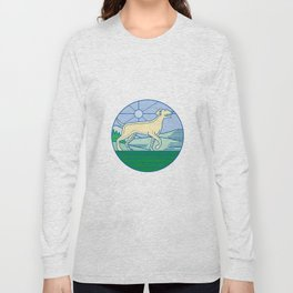 English Pointer Dog Mono Line Long Sleeve T-shirt