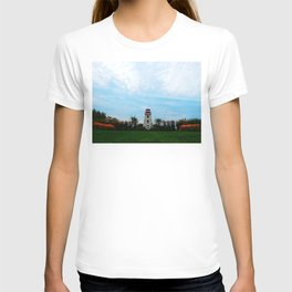 Garden and Lighthouse at the bottle houses T-shirt