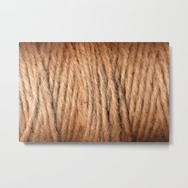 Brown Yarn Threads Metal Print