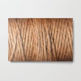 Brown Yarn Threads Metal Print