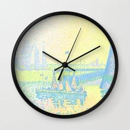 "Paul Signac ""Evening (The Jetty of Vlissingen) (Abend-La jetée de Flessingue)"" from the journal Pan Wall Clock"