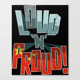 China Pride Loud N Proud Canvas Print