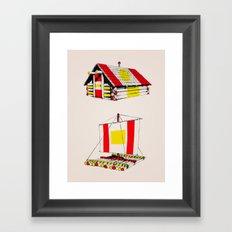 Cabin & Raft Framed Art Print