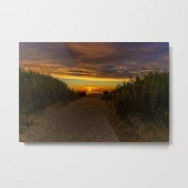East Beach Sunset - Rhode Island Metal Print