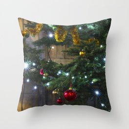Tree Lights And Baubles Throw Pillow