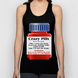 Crazy Pills Unisex Tank Top