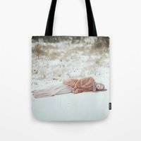 frozen Tote Bags featuring Frozen by Jovana Rikalo