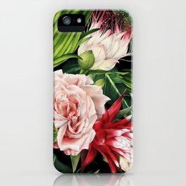 Rich Tropical Floral Design iPhone Case