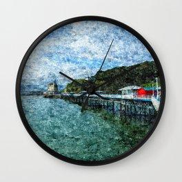 Llandudno Pier in Summer Wall Clock